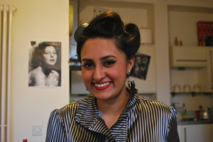 After a lovely 1950s up-do!