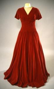 1940s evening dress