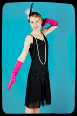 1920s pose with gloves