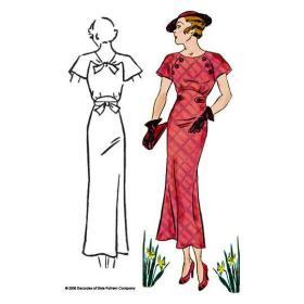 1930s Button Dress