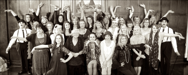 1920s hen party, a group shot