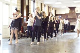 Charleston dance hen party, learning the Charleston basic step!