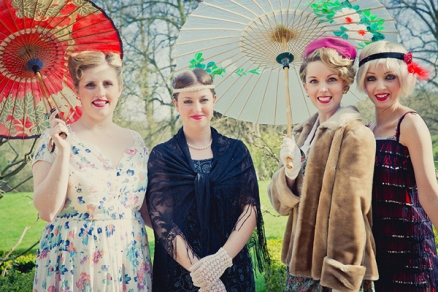 Vintage hen party at a National Trust property