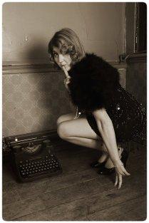 Vintage photo with typewriter