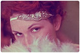 1920s red headed flapper