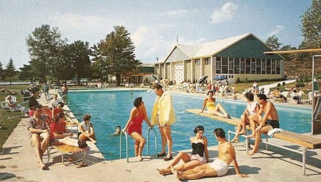 1950s pool party hen party