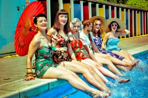 1950s pool party