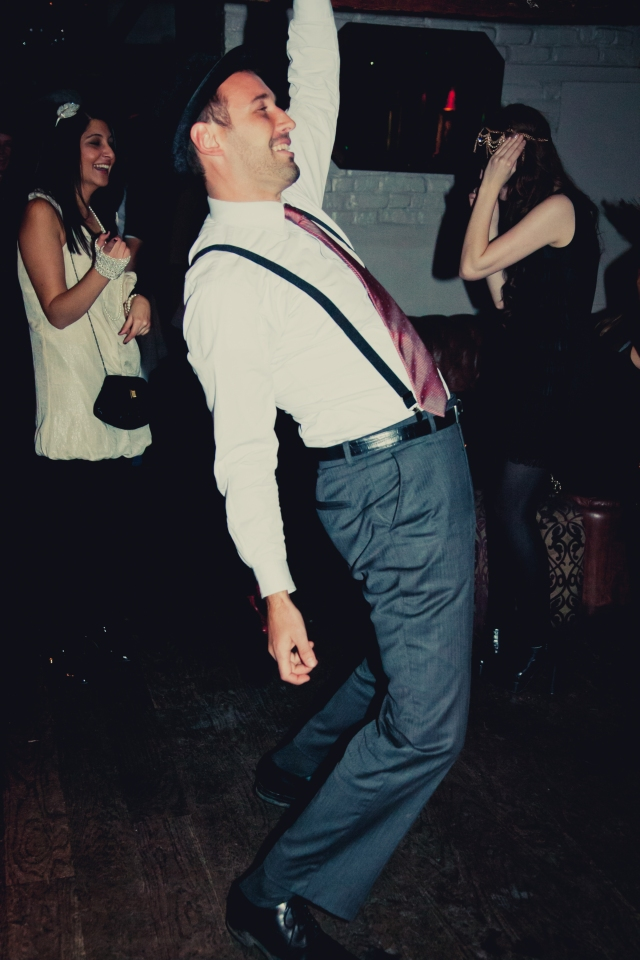 Charleston dance class at a party